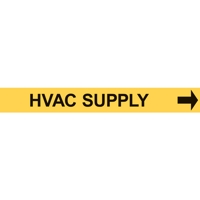 HVAC SUPPLY PIPE MARKER W/ ARROW
