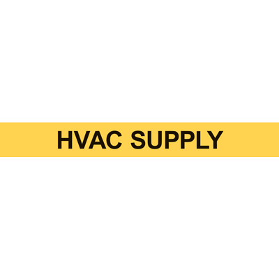 HVAC SUPPLY PIPE MARKER