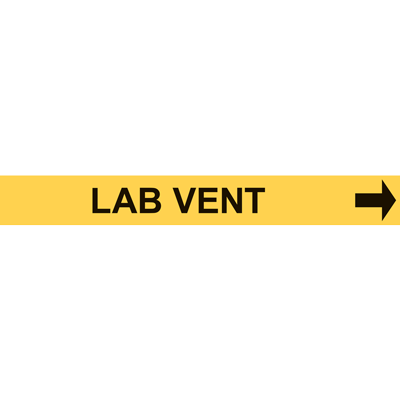 LAB VENT PIPE MARKER W/ ARROW