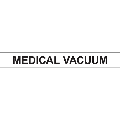 MEDICAL VACUUM PIPE MARKER