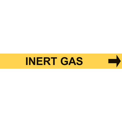 INERT GAS PIPE MARKER W/ ARROW
