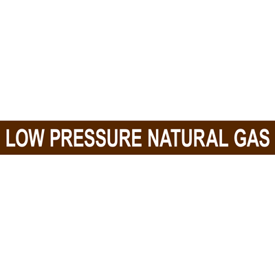 LOW PRESSURE NATURAL GAS PIPE MARKER