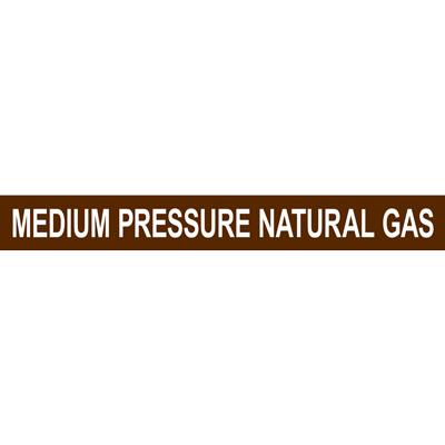 MEDIUM PRESSURE NATURAL GAS PIPE MARKER