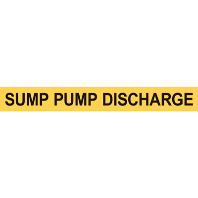 SUMP PUMP DISCHARGE PIPE MARKER