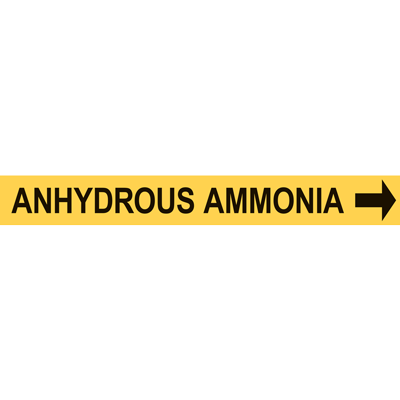 ANHYDROUS AMMONIA PIPE MARKER W/ ARROW