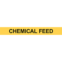 CHEMICAL FEED PIPE MARKER