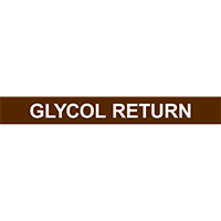 GLYCOL RETURN PIPE MARKER