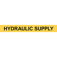 HYDRAULIC SUPPLY PIPE MARKER
