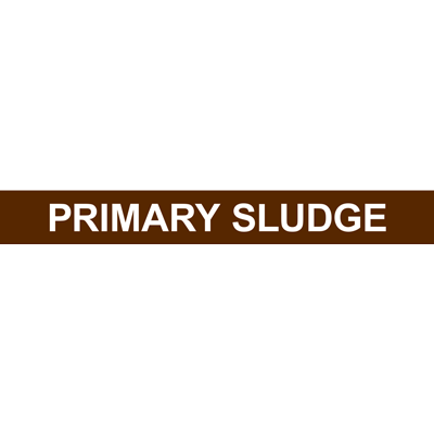 PRIMARY SLUDGE PIPE MARKER