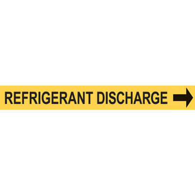 REGRIGERANT DISCHARGE PIPE MARKER W/ ARROW