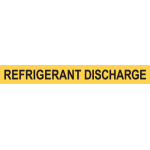 REGRIGERANT DISCHARGE PIPE MARKER