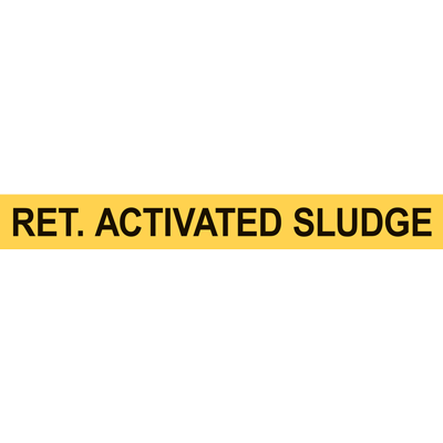 RET. ACTIVATED SLUDGE PIPE MARKER