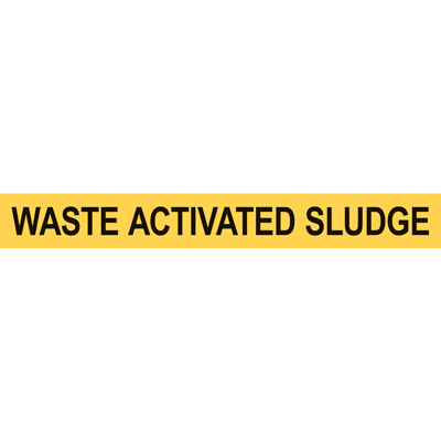 WASTE ACTIVATED SLUDGE PIPE MARKER