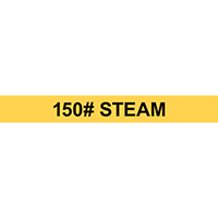 150# STEAM PIPE MARKER
