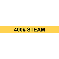 400# STEAM PIPE MARKER