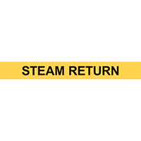 STEAM RETURN PIPE MARKER