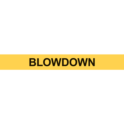 BLOWDOWN PIPE MARKER