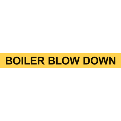 BOILER BLOW DOWN PIPE MARKER