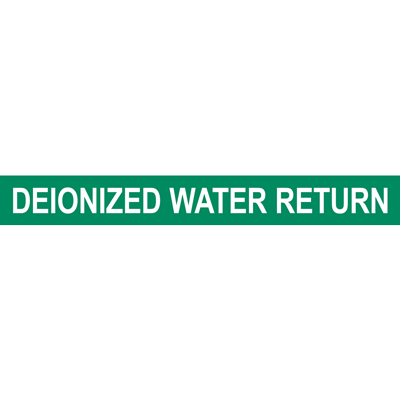 DEIONIZED WATER RETURN PIPE MARKER