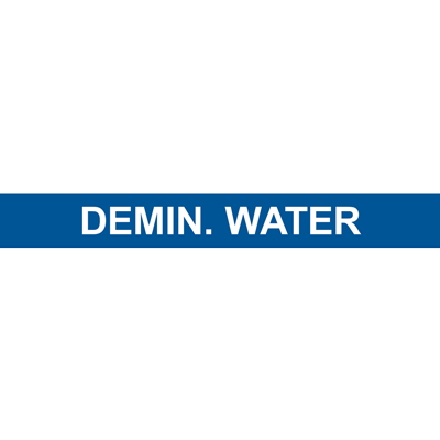 DEMIN. WATER PIPE MARKER