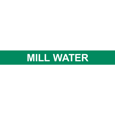 MILL WATER PIPE MARKER