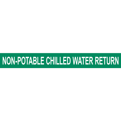 NON-POTABLE CHILLED WATER RETURN PIPE MARKER