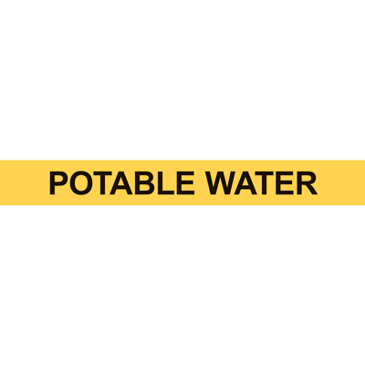 POTABLE WATER PIPE MARKER