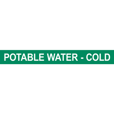 POTABLE WATER - COLD PIPE MARKER