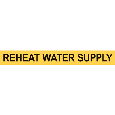 REHEAT WATER SUPPLY PIPE MARKER