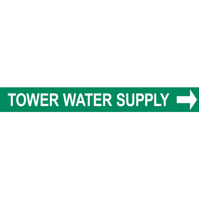 TOWER WATER SUPPLY PIPE MARKER W/ ARROW