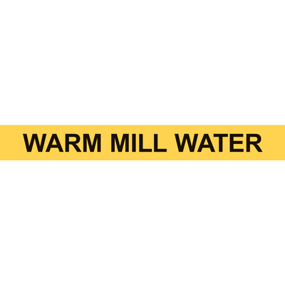 WARM MILL WATER PIPE MARKER