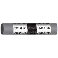 DISCHARGE AIR Marine Pipe Marker