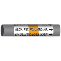 MECH. RECIRCULATED AIR Marine Pipe Marker