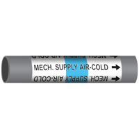 MECH. SUPPLY AIR-COLD Marine Pipe Marker