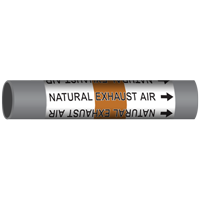 NATURAL EXHAUST AIR Marine Pipe Marker