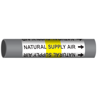 NATURAL SUPPLY AIR Marine Pipe Marker