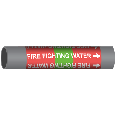 FIRE FIGHTING WATER Marine Pipe Marker