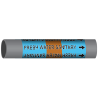 FRESH WATER SANITARY Marine Pipe Marker