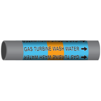 GAS TURBINE WASH WATER Marine Pipe Marker