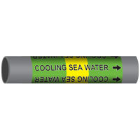 COOLING SEA WATER Marine Pipe Marker