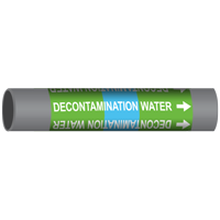 DECONTAMINATION WATER Marine Pipe Marker
