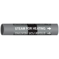 STEAM FOR HEATING Marine Pipe Marker