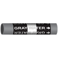 GRAY WATER Marine Pipe Marker