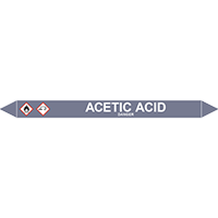 ACETIC ACID European Pipe Marker
