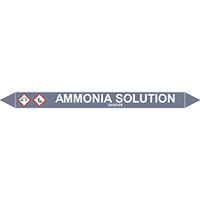 AMMONIA SOLUTION European Pipe Marker