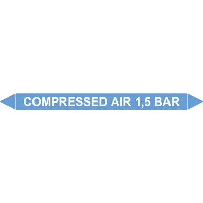 COMPRESSED AIR 1,5 BAR European Pipe Marker