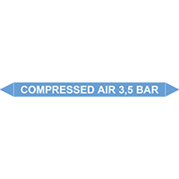COMPRESSED AIR 3,5 BAR European Pipe Marker
