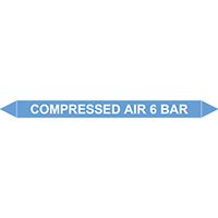 COMPRESSED AIR 6 BAR European Pipe Marker