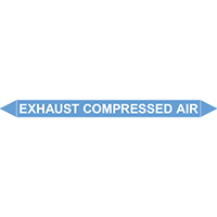 EXHAUST COMPRESSED AIR European Pipe Marker