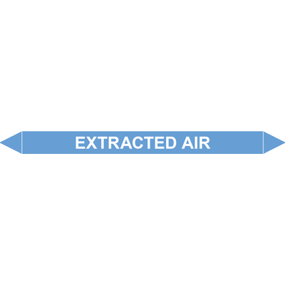 EXTRACTED AIR European Pipe Marker